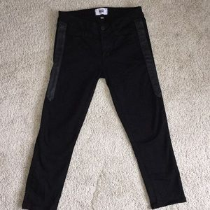 PAIGE Verdugo Ultra Skinny Jeans with leather